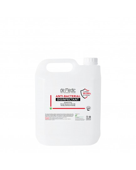 DeMedic Anti-Bacterial Disinfectant 5 Litres (Waterbased)